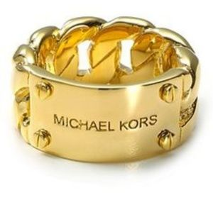 MICHAEL KORS THICK CUTOUT BANGLE GOLD
